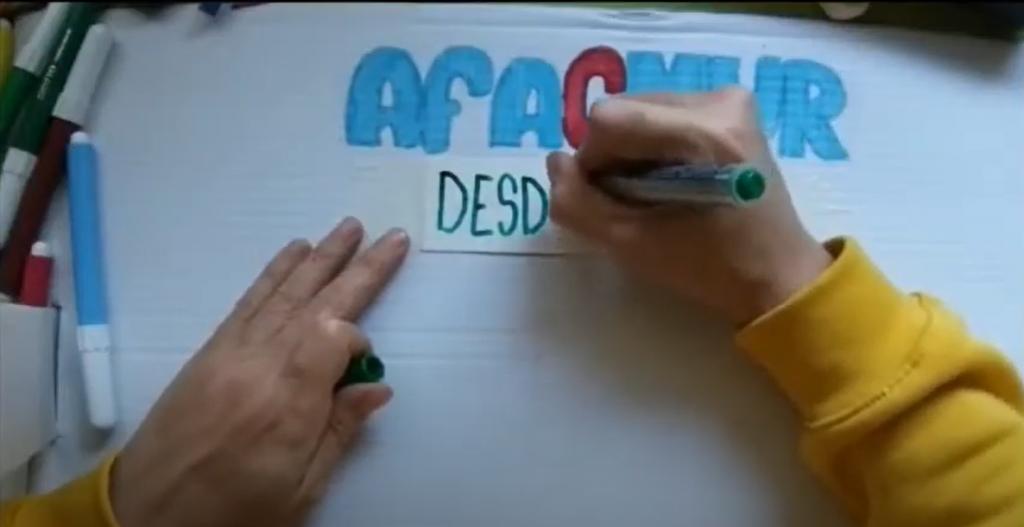 AFACMUR DESDE CASA (DECORACIÓN CON ROLLOS DE PAPEL)