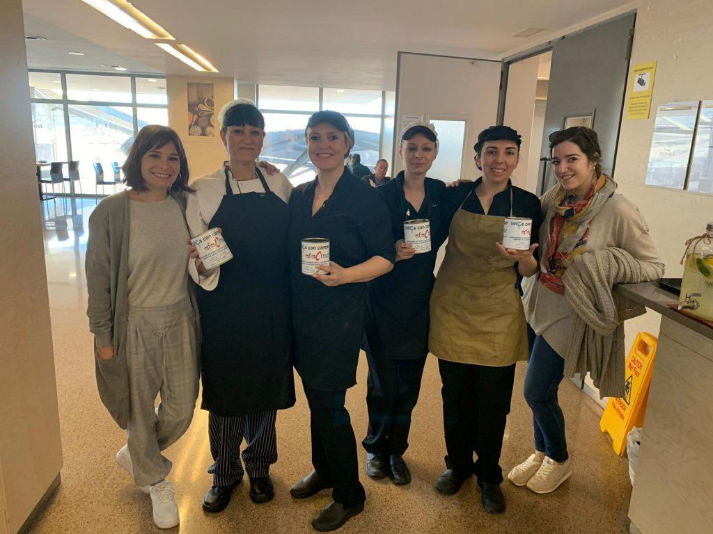 Donativos de la cafetería de personal del Hospital Santa Lucía