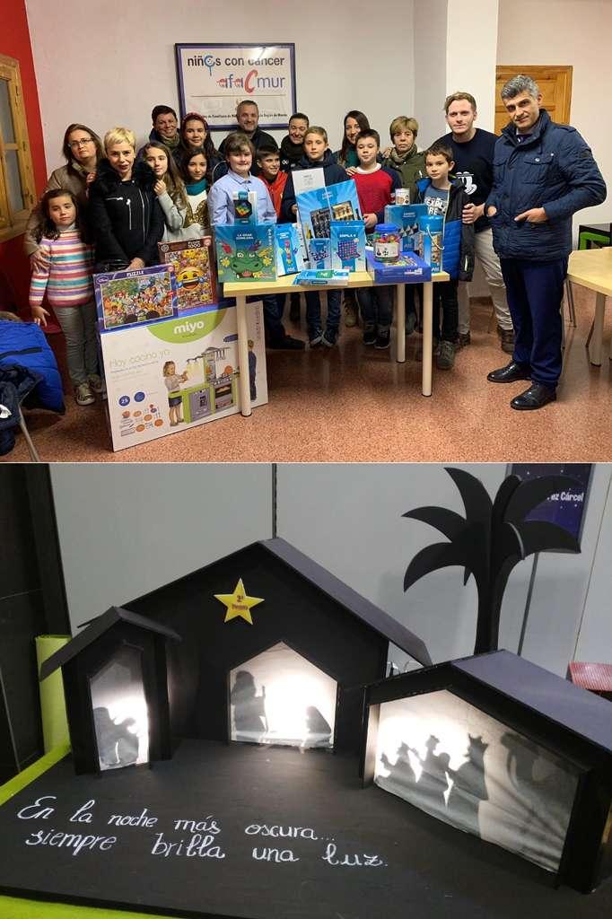 Esta semana hemos recibido en Afacmur a los alumnos de 6ºB del Colegio Gabriel Pérez Cárcel, que tras ganar un concurso de belenes han decidido comprar juguetes para la Unidad de Oncohematología Pediátrica del Hospital Virgen de la Arrixaca.