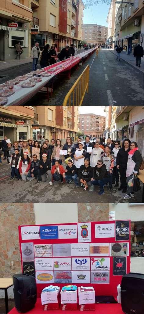 Este fin de semana pudimos disfrutar de 107 metros de Roscón de Reyes Solidario en Mula. Todos los beneficios recaudados se destinaron a Afacmur.
